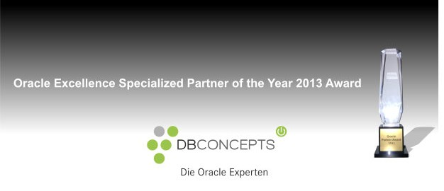 Oracle Excellence Specialized Partner of the Year Award 2013