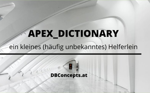 Oracle Apex Dictionary