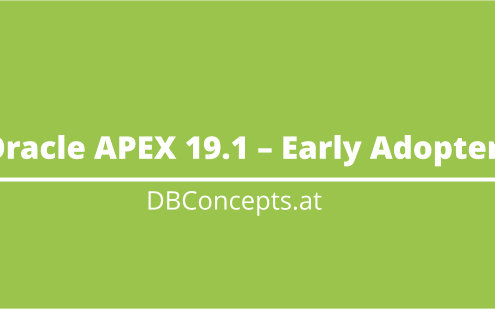 Oracle Apex 19.1 Early Adopter